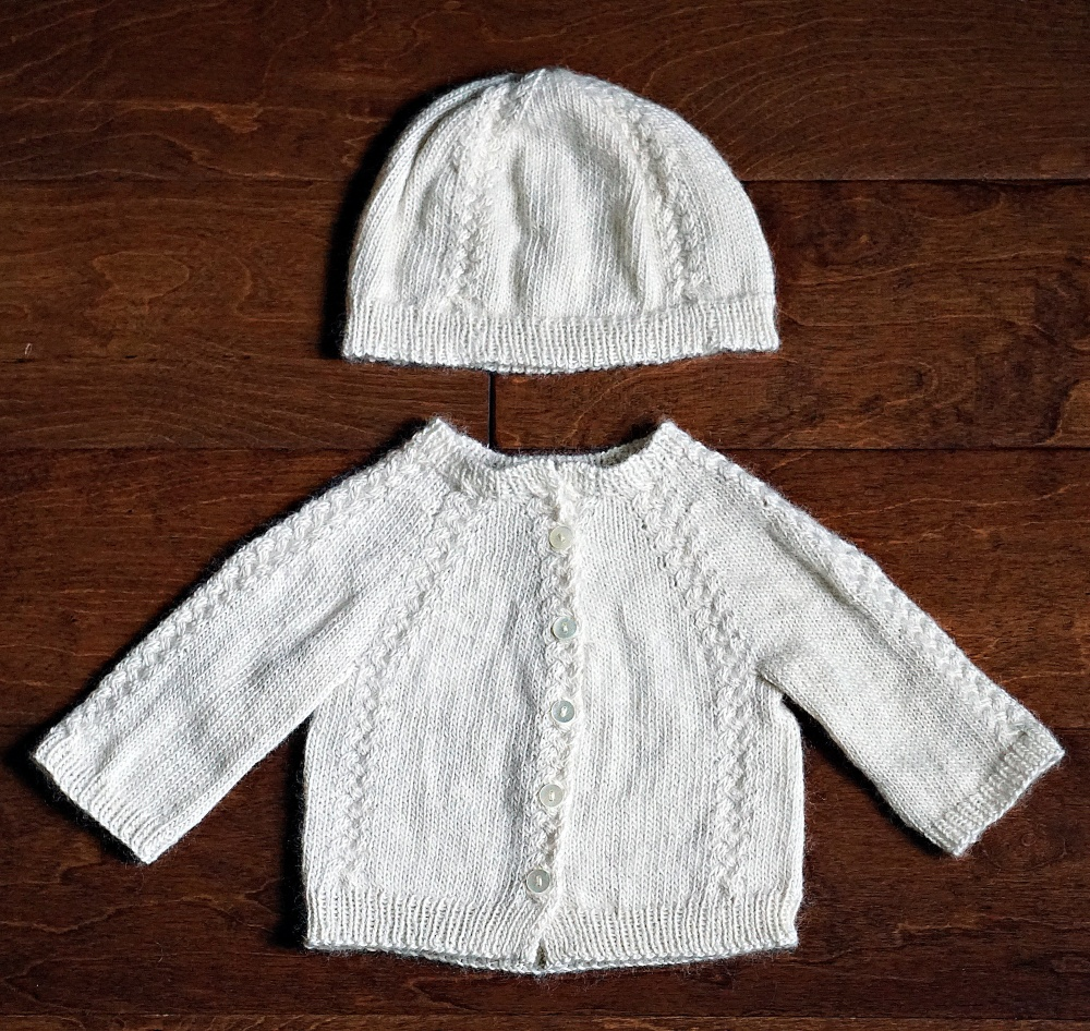 Knit Layette with Cables – knitosophy designs